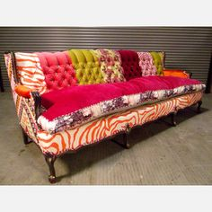 i just got one of these sofas last week to redo-funky Bohemian Rhapsody Sofa now featured on Fab.this is like $5000