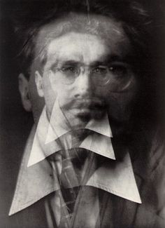 Alvin Langdon Coburn, multiple exposure of Ezra Pound. History Of Photography, Types Of Photography, White Photography, Photography Portraits, Photography Lessons, Vintage Photography, Experimental Photography, Abstract Photography, Illusion