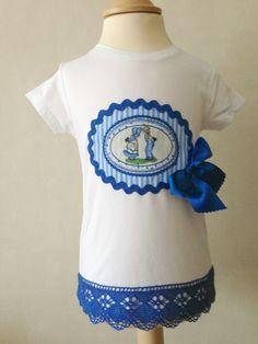 #camiseta lazo azul #niñas #modeloAdriana