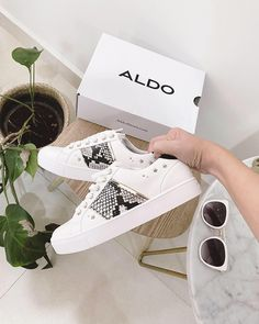 Meet low top sneakers Clain, a classic silhouette upgraded with snakeskin panels and delicate stud details. Shop now at aldoshoes.com to stay comfortable and look chic!