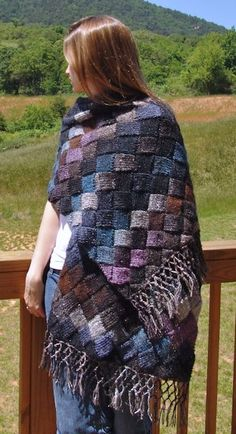 Entrelac Shawl. (http://www.ravelry.com/patterns/library/lady-eleanor-entrelac-stole - from the book Scarf Style)