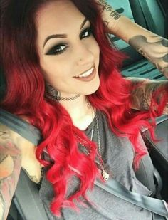 Jenni deane wearing her cliphair double weft full head hair get that look with our bright red hair extensions 100 remy human hair pmusecretfo Gallery