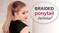 Holiday hair tutorial ★ Braided ponytail hairstyle with clip-in extensions