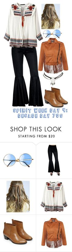 Spirit week day 4: Decade Day 70s by nialls-princess-megan on Polyvore featuring moda, Warehouse and Wet Seal