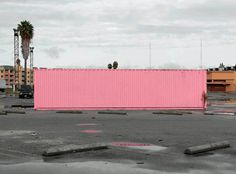 Hot pink container - Paul Seawrigt