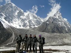 The Mayo team with Mt. Everest