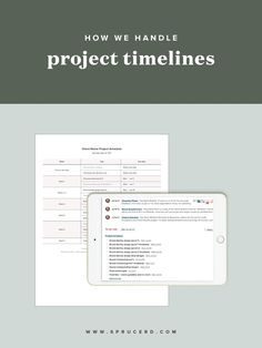 "How we handle project timelines | Spruce Rd. | Maybe you hit your breaking point during your latest client project and asked yourself, ""how can I keep my clients on time with their project?"" You've asked your fellow freelance friends how they handle project timelines, or even took to your design contract to ensure that your late fees are iron clad. No doubt, you've questioned whether you are too much of a people pleaser, or if you should even keep offering design services because it's…"