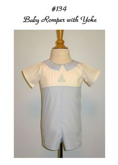 Creations By Michie': Baby Romper with Yoke