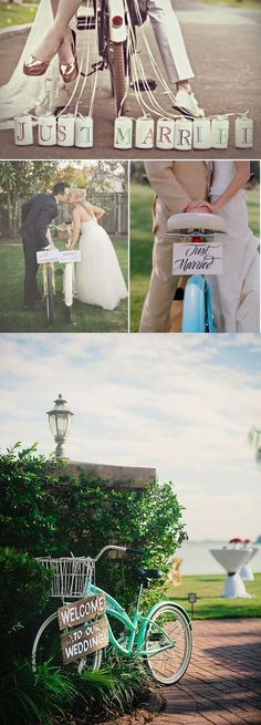 Decora tu boda con bicicletas / https://mibodadiy.wordpress.com