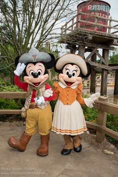 Grizzly Gulch Mickey and Minnie Mouse