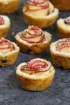 These Apple Rose Cookie Cups are a beautiful bite size dessert that's perfect for a party. See how to make them!