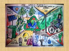Kids Are Learning Energy Conservation and Creating Artistic Drawings to Prove It - US Power and Light 3d Art Drawing, Dream Drawing, Energy Conservation Poster, Earth Day Drawing, Earth Drawings, Save Water Poster Drawing, Road Safety Poster, Save Earth Posters, Environment Painting