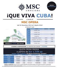 Crociera a Cuba con MSC fino al 5 Aprole 2016