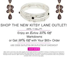 The sale ends tonight! Get your items now at salonlechic.kitsylane.com