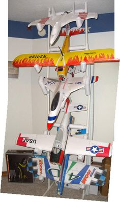 Rc Plane Storage.  Being an RC wife means I need to think about these things for husband and son.