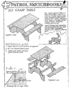 Scout Camp Chair Plans