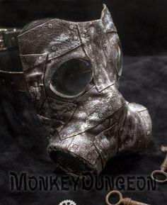 Steampunk industrial horror gas mask Halloween by MonkeyDungeon, $139.99