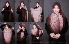 Square scarf hijab style