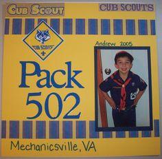 Cub Scout Cover Page - Scrapbook.com