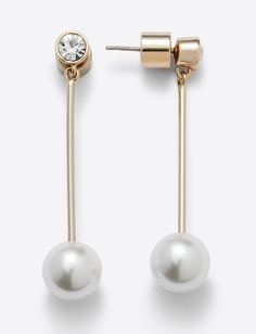 Pearl Drop Earring – Draper James Draper James, Navy Gold, Ear Jewelry, Pearl Drop Earrings, Southern Charm, Gold Pearl, Card Sizes, Perfume, Brass
