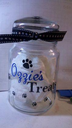 Pet treat jar.