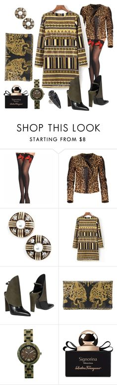 """Woman on Top"" by dundiddit ❤ liked on Polyvore featuring Gucci, Allison Reed, Alexander Wang, Roberto Cavalli, WeWood, Salvatore Ferragamo and Charles Albert"