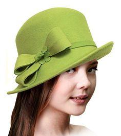 112b2482963a2 Cashmere Soft Felt Fedora Bucket Cloche Hat - Q124