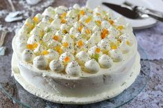 Tejszínes-narancsos máktorta 🍴 Camembert Cheese, Dairy, Cooking Recipes, Food, Meal, Cooker Recipes, Essen, Hoods, Meals