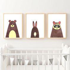 Nursery Animal Prints Nursery Decor Set of 3 Prints Nursery Nursery Prints, Nursery Decor, Scandinavian Nursery, Kids Room Wall Art, Animal Nursery, Animal Prints, Holiday Decor, Animals, Home Decor