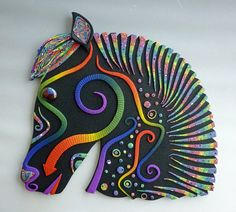 Horse  Wall Art Sculpture or Clock in Black by MysticDreamerArt, $105.00  100% proceeds go to support the rainforest