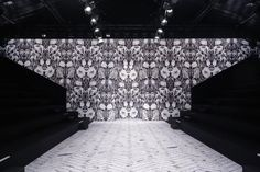 Large scale bold and black and white.  Paris fashion week runway