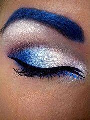 Dramatic Shimmery Blue Iridescent Eye Make-up wacky! Makeup Tips, Beauty Makeup, Hair Makeup, Hair Beauty, Prom Makeup, Eyebrow Makeup, Makeup Tutorials, Eyeshadow Makeup, Makeup Art