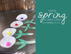 Simple Flower Craft from LearnCreateLove.com