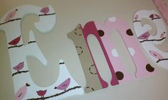 Hand Painted Wall Letters  Pottery Barn Penelope  by lkcolley, $12.00
