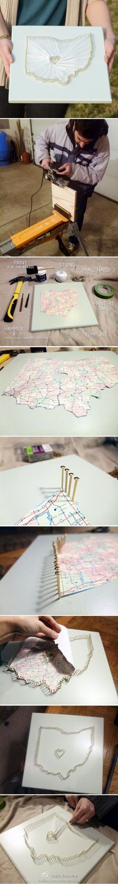 DIY map heart