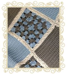 Mizzle Nanna Knit Blanket Blue