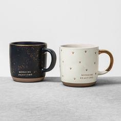 Mug Hello Handsome / Hello Beautiful - Hearth & Hand™ With Magnolia : Target Morning Handsome, Chip And Joanna Gaines, Stoneware Mugs, Cute Mugs, Pretty Mugs, Cozy Cottage, Hello Beautiful, Mugs Set, Couple Gifts