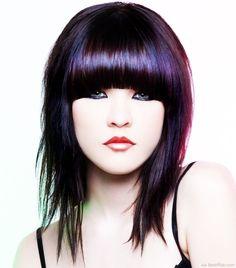 Sleek Fringe Hairstyle For Mid Length Hair ❥❥❥ http://bestpickr.com/medium-emo-hairstyles