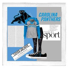 """""""Panthers Fan"""" by bambidarling3 on Polyvore featuring Polaroid, Converse, women's clothing, women, female, woman, misses and juniors"""