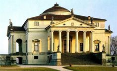 Villa Capra ou A Rotonda, Andrea Palladio. Andrea Palladio, Padua Italy, Vicenza Italy, Classical Architecture, Art And Architecture, Villa Palladio, Townhouse Exterior, Interior Design Courses, Villas In Italy