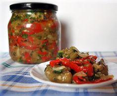 Рецепт баклажанного салата с перцем на зиму - Салат на зиму от 1001 ЕДА