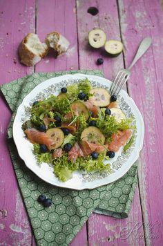 insalata di feijoa e salmone