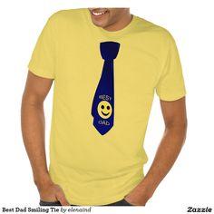 #Zazzle Best Dad Smiling Tie Men's American Apparel Poly-Cotton Blend T-Shirt