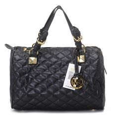 Michael Kors Grayson Large Grommet Satchel Black