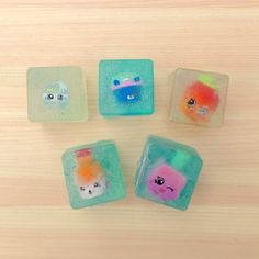 Easy Shopkins Glitter Soap great for Shopkins themed parties, birthday parties, party favors, or a simple craft to do with your kids.