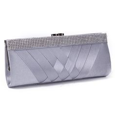 Damara Women's Chic Statin Pleated Clutch Rhinestones Evening Bag (Silver) Damara,http://www.amazon.com/dp/B00GKABHHE/ref=cm_sw_r_pi_dp_wlsdtb11PQZF5XVC