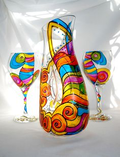 'Dancing Mambo' Celebration series offers colorful tableware presented in an unexpected hand painted flare in attitude of vivid colors meant to be shared with or without spirits. Due to the nature of