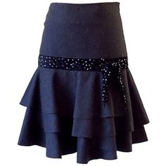 Pre-owned Cacharel Charcoal Layered Skirt (7.045 RUB) ❤ liked on Polyvore featuring skirts, grey, grey skirt, charcoal gray skirt, mid length skirts, gray skirt and grey high waisted skirt