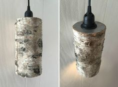Birch Wood Pendant L