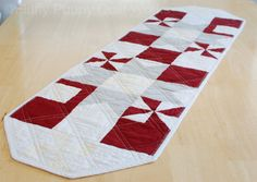 Quilted Table Runner   Red Floral Table Runner   Quilted Table Topper   Dark  Red Table Topper   Patchwork Table Runner | Quilting   Em | Pinterest |  Quilt ...